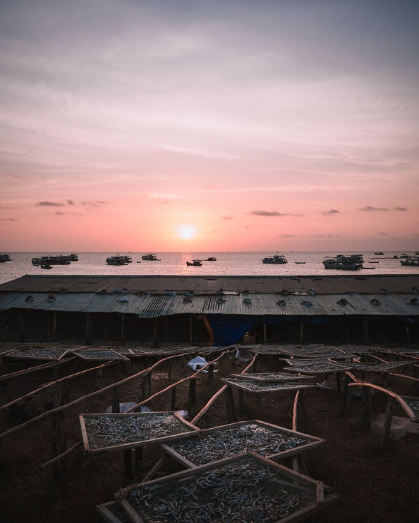 Sunrise over An Thoi fishing port, to the south of Phu Quoc. Fishing vessels typically return to shore around 5:00 to 5:30 a.m. Tortorelli said he likes to talk to locals, considering it one of the most memorable moments of his trip.