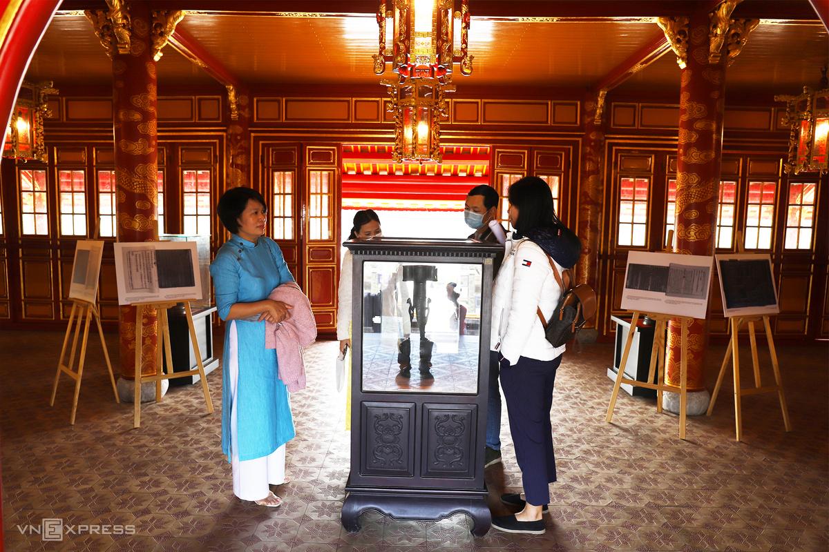 Minh Mang Emperor artifacts displayed at Hue Citadel