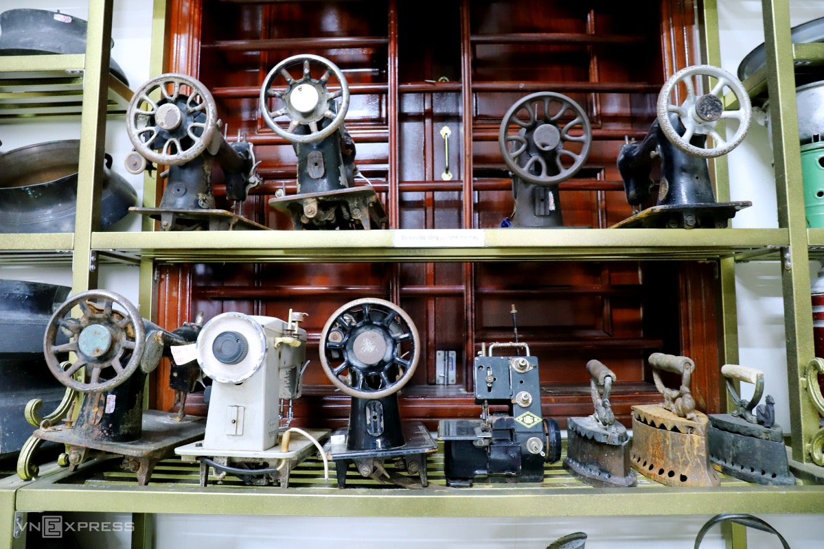 Sewing machines made in the U.S., Japan, Australia and Russia.