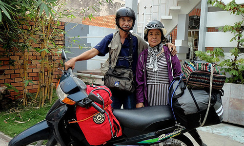 Going places: senior couple indulge in post-retirement wanderlust
