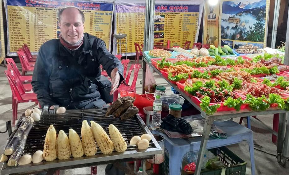 Kiril Grudin at a food vendor's in Sa Pa. Photo courtesy of Kiril Grudin.