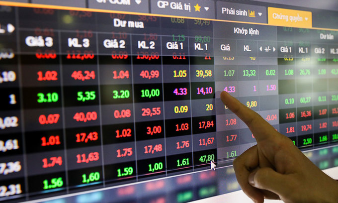 VN-Index slips with blue chips in the red
