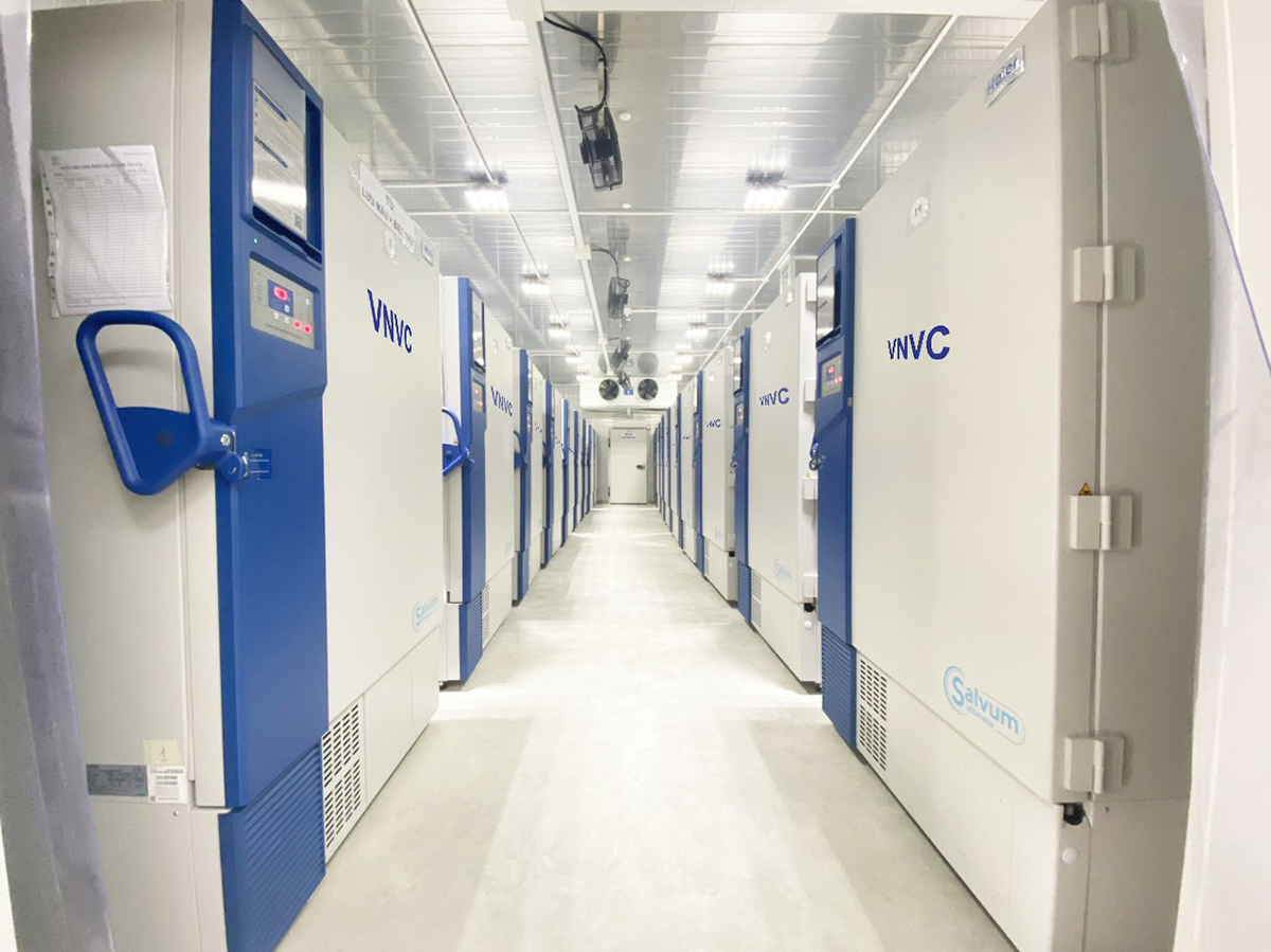 The ultra-cold storage freezers at the Vietnam Vaccine Joint Stock Company (VNVC). Photo by VNVC