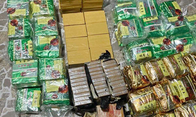 Seven arrested as HCMC police seize 217 kg of drugs