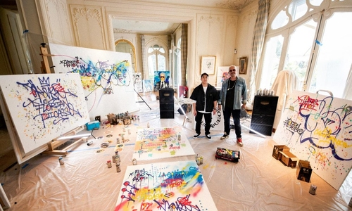 French Vietnamese artists blend graffiti and music to help orphans