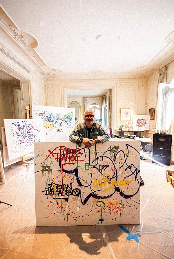 One of the eight art works created by Cyril, inspired by Paris - where Kongo started his graffiti career and Hanoi - where he opened his worlds first and only private gallery.