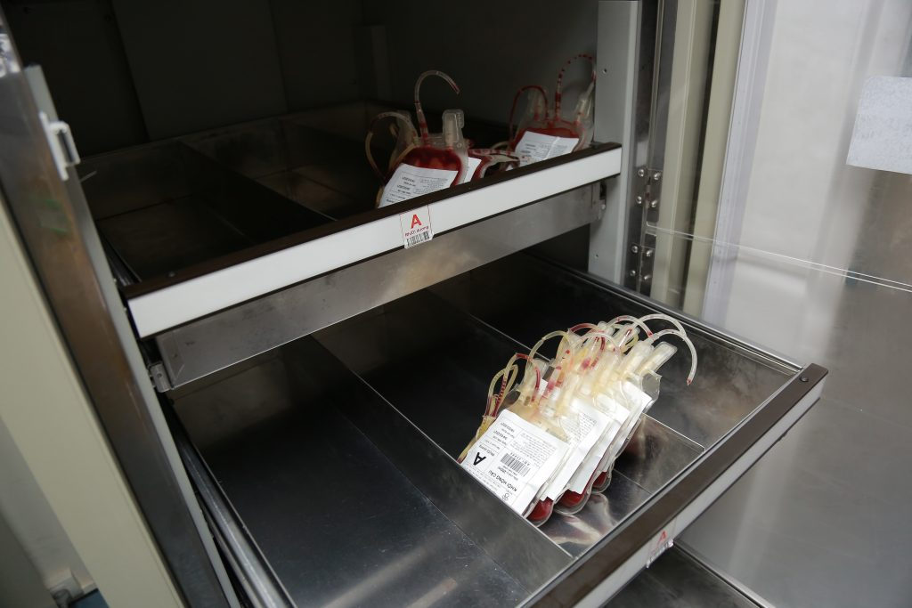 The blood left at the store of the National Institute of Hematology & Blood Transfusion (NIHBT) in Hanoi, Feburary 2021. Photo by VnExpress/Cong Thang