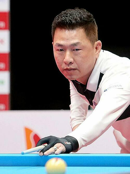 Ma Minh Cam competing in PBA World Championship 2020-2021 in South Korea. Photo courtesy of Billiard Vietnam.