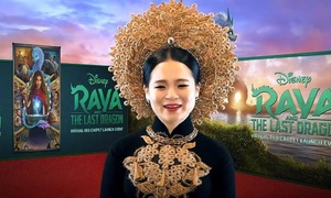Vietnamese-American actress dons ao dai for Disney movie premiere
