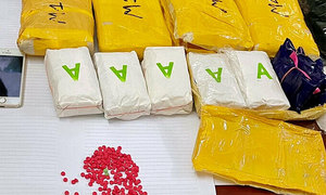 Delivery man caught with 30,000 amphetamine pills