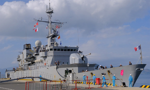 French frigate docks in Vietnam for helicopter repairs