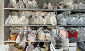 Biggest storage of fake top brand bags busted in northern Vietnam