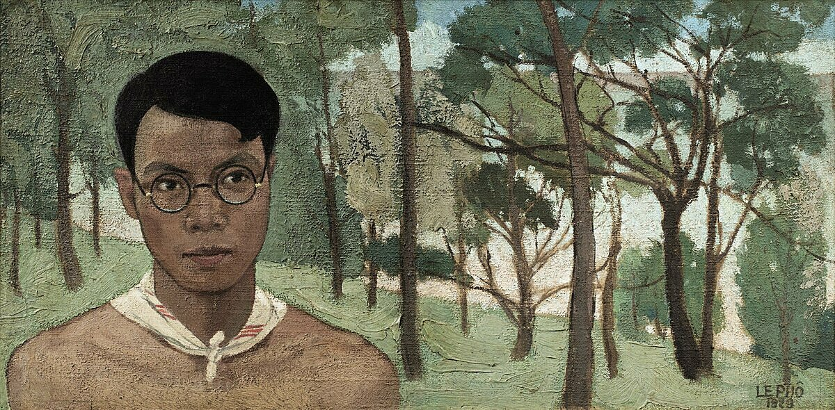 Autoportrait dans la forêt (Self-portrait in the forest) by Le Pho. Photo courtesy of Sothebys.