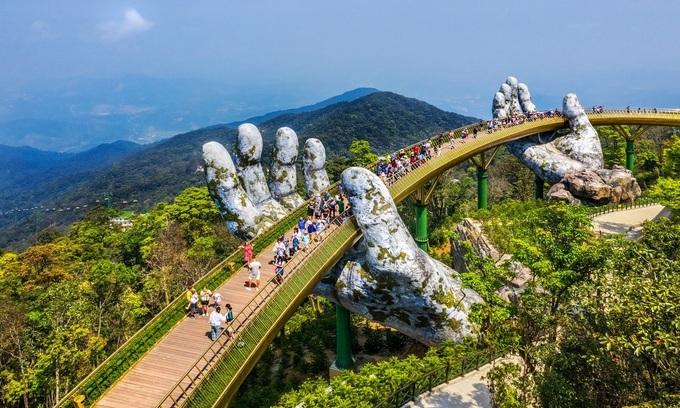 The Golden Bridge of Ba Na Hills resort, near Da Nang City. Photo by Shutterstock/Hien Phung Thu.