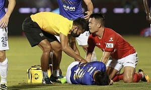 Midfielder punished for crushing V. League tackle