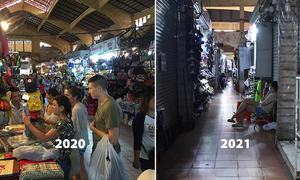 Ben Thanh Market left desolate a year into Covid-19 pandemic