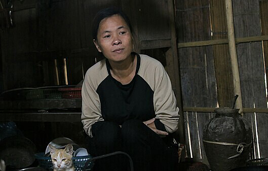 Ha Thi Chien in her house in Phu Tho Province. Photo by VnExpress/Le Lien.