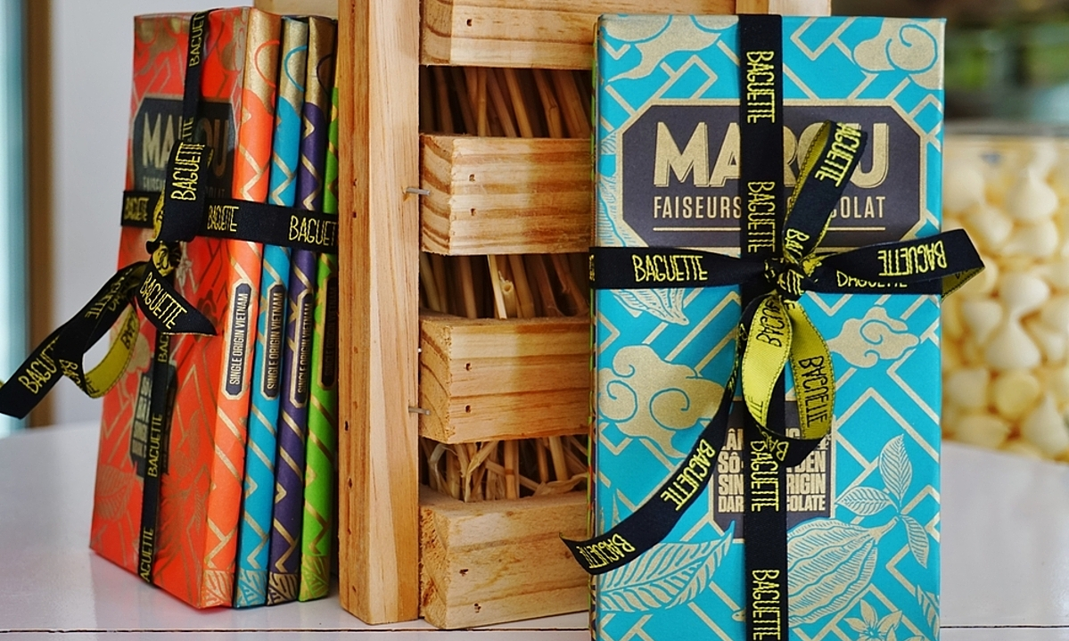 Marou's chocolate bars. Photo by Shutterstock/EQRoy.