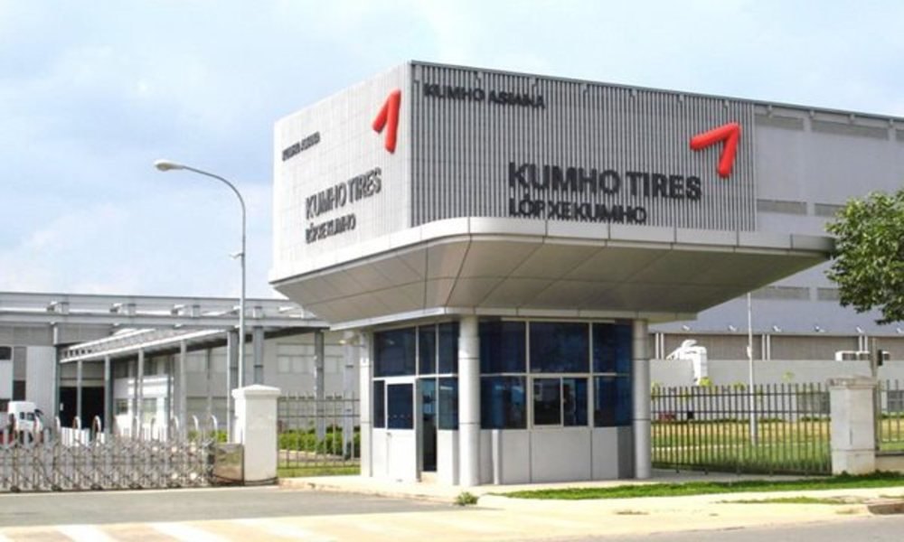 Kumho Tire Plant in My Phuoc 3 Industrial Park in the southern province of Binh Duong. Photo courtesy of Kumho Tire.