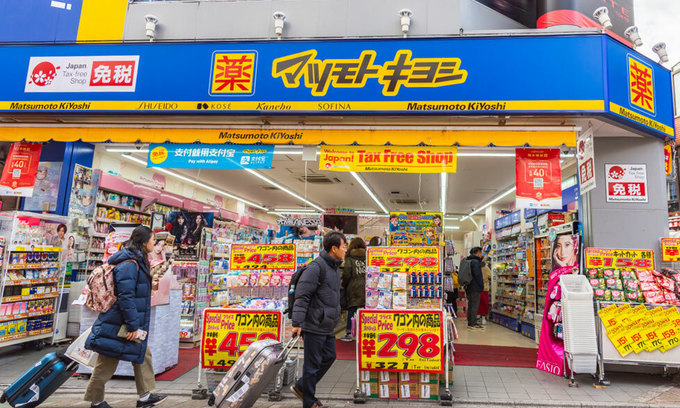Japan arrests two Vietnamese over 100 drugstore thefts