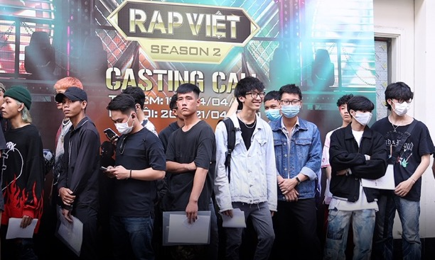 Season 2 of Rap Viet kicked off in Ho Chi Minh City on April 13, attracting thousands of wannabe rappers.