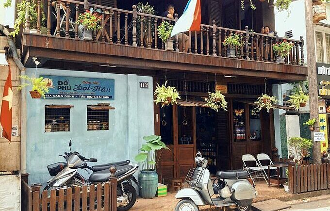 The Do Phu cafe, now Dai Han broken rice shop, in Saigon. Photo by VnExpress/Huynh Nhi.