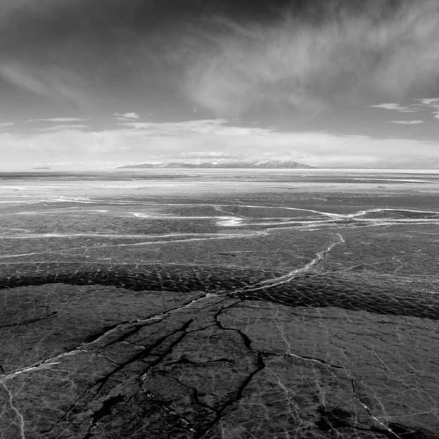 (PR) Baikal-lake landscape in winter black and white fine art  - 1