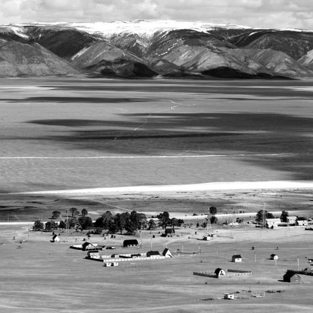 (PR) Baikal-lake landscape in winter black and white fine art  - 2