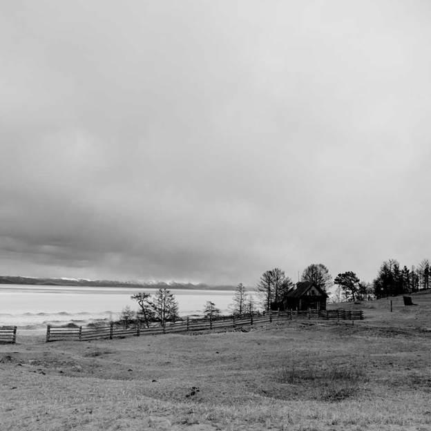 (PR) Baikal-lake landscape in winter black and white fine art  - 3