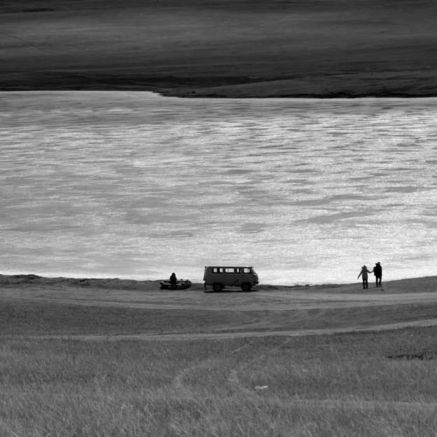 (PR) Baikal-lake landscape in winter black and white fine art  - 4