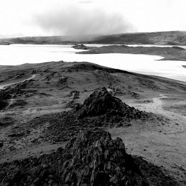 (PR) Baikal-lake landscape in winter black and white fine art  - 5