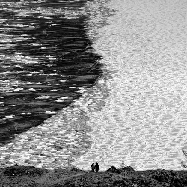 (PR) Baikal-lake landscape in winter black and white fine art  - 8