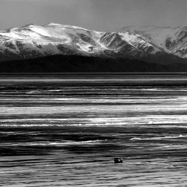 (PR) Baikal-lake landscape in winter black and white fine art  - 9