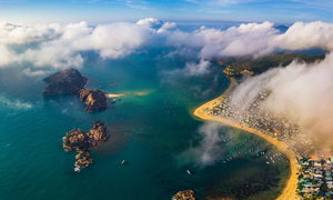 Drone shots capture Binh Dinh's beauty from above