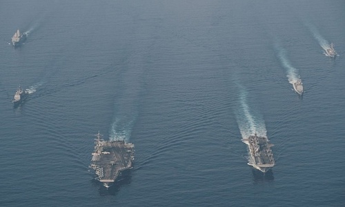 US-China saber-rattling heightens East Sea tensions, risks: experts