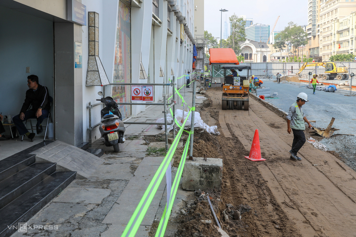 Saigon metro construction site on the road to recovery