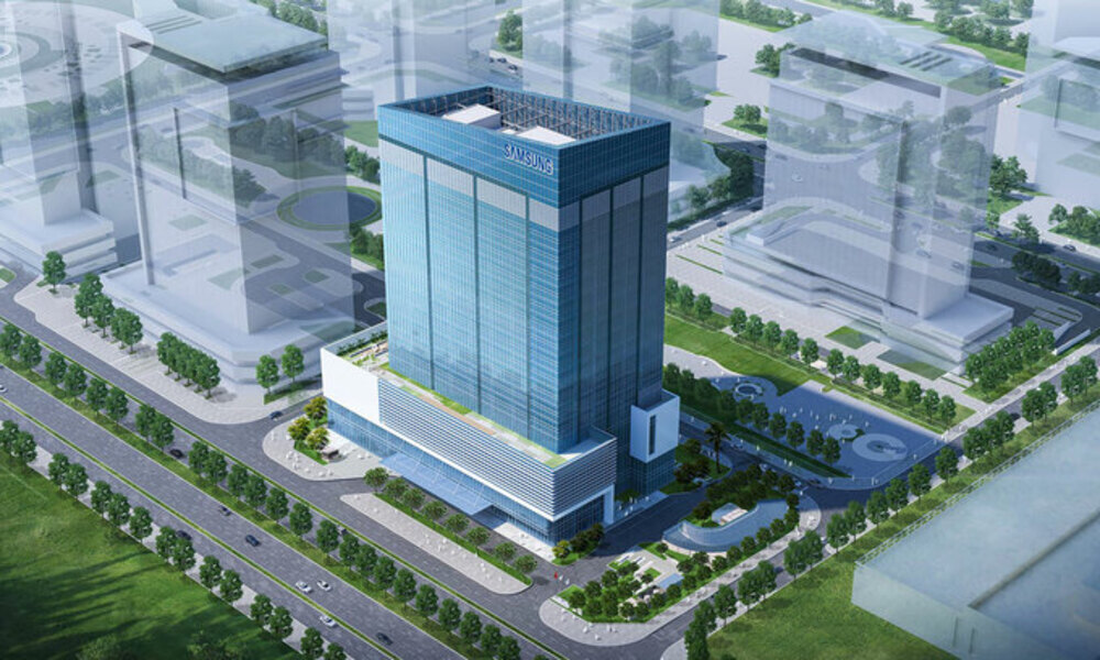 An artists impression of Samsung Electronics research and development center in Tay Ho District, Hanoi. Photo courtesy of Samsung.
