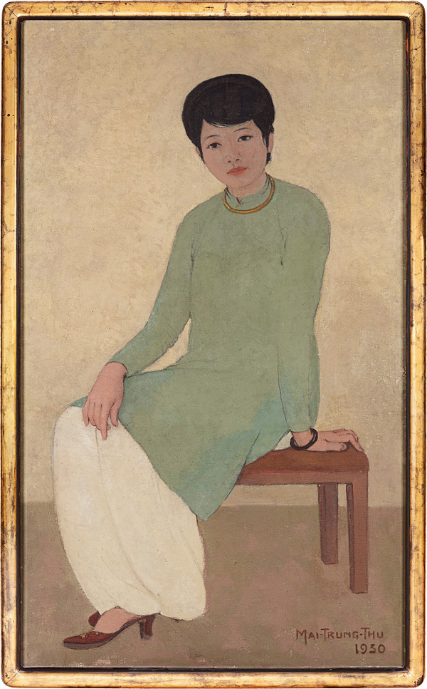 The Portrait of Mademoiselle Phuong by Mai Trung Thu is the most expensive artwork by a Vietnamese artist ghgh