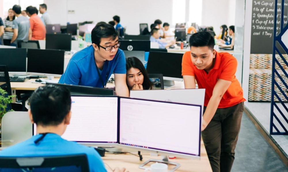 Employees work at KSM Solution, a technology company in Tan Binh District, Ho Chi Minh City. Photo courtesy of KSM Solution.