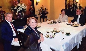 Former US president ate here: restaurant owners recall Bush's arrival