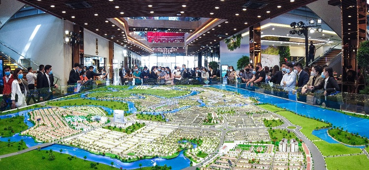 Model of Aqua City, a 1,000-hectare smart eco-urban area. Photo: Novaland.