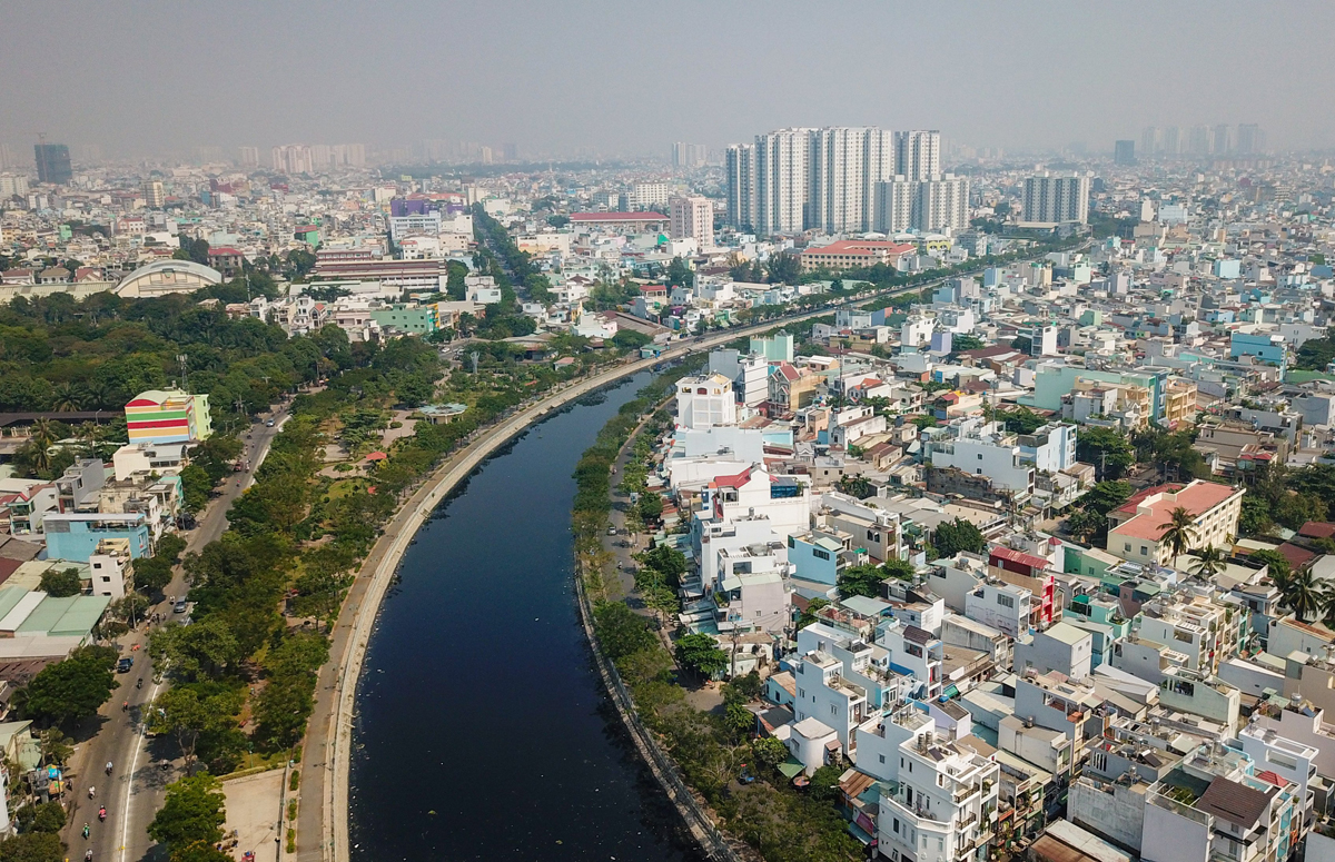 The Tan Hoa – Lo Gom Canal in 2021. Photo by VnExpress/Quynh Tran