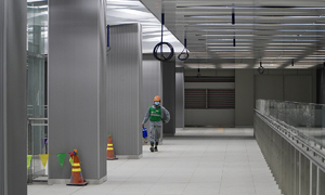 Downtown HCMC underground metro station almost ready