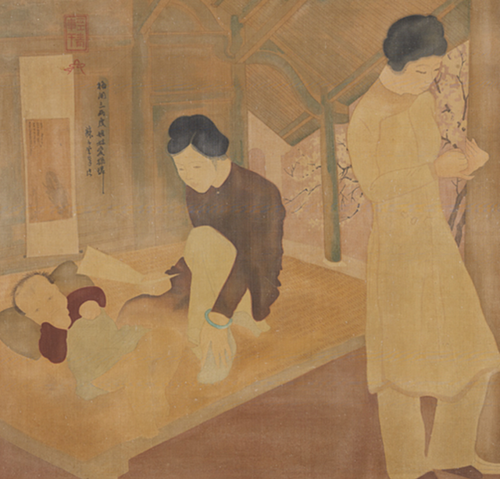 La Thu (Letter) by To Ngoc Van was said to be a fake version at an Sothebys auction. Photo courtesy of Sothebys.