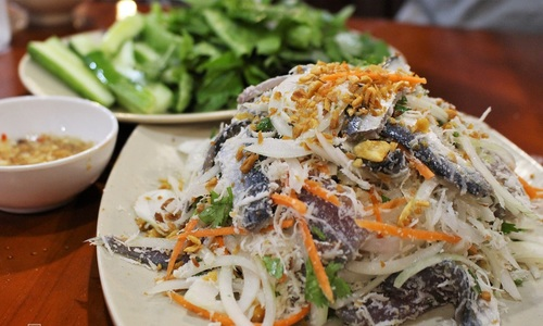 Salad from herring, Phu Quoc's tasty offering
