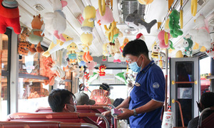 Toy story: how a Saigon public bus pimps its ride