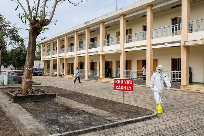 A quarantine center in Cu Chi District, HCMC in March 2020. Photo by VnExpress/Quynh Tran.