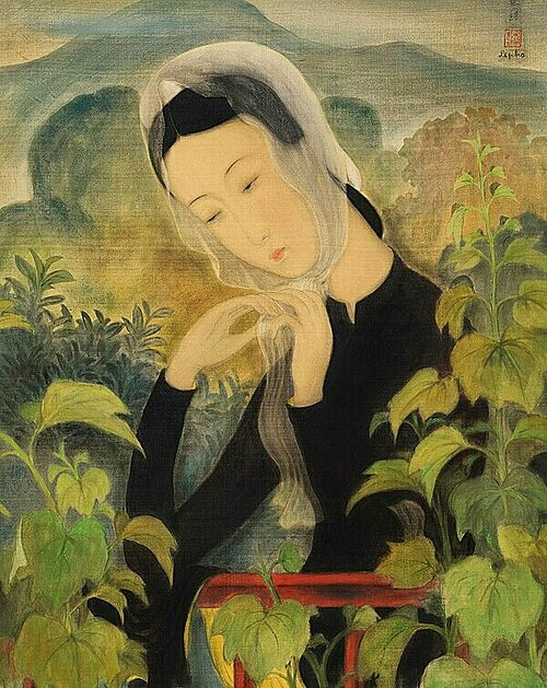 Young Lady Tying Her Scarf by Le Pho. Photo courtesy of Christies Hong Kong auction house.