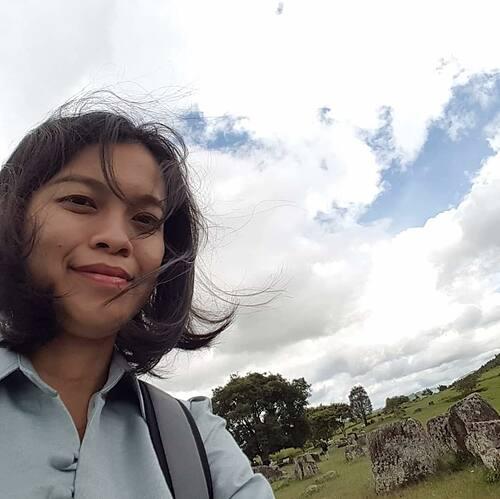 Nguyen Hoa My in a selfie taken in Laos.