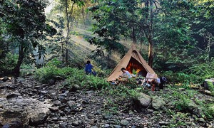 Weekend camping trips allow Vietnamese Covid reprieve